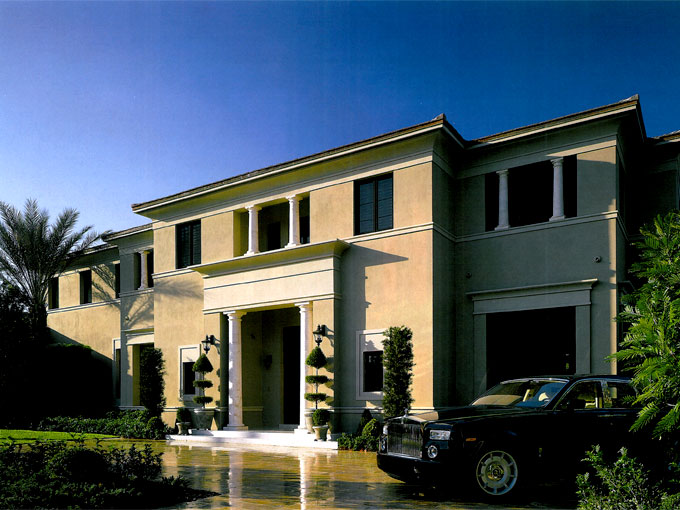 The Sovereign House in Coral Gables contains a variety of uniquely constructed elements, such as stone columns, concrete moldings, cement tile roof, nickel stairway and limestone flooring. The house was winner of Florida's BEST Awards in 2007.